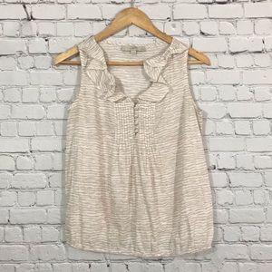 LOFT \\ zebra print ruffled blouse